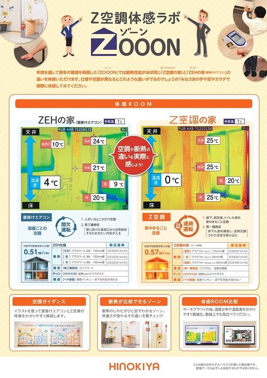 【桧家住宅】 Z空調体感ラボ「Z空調の家」と「ZEHの家(壁掛けエアコン)」の違いを体感してみよう!